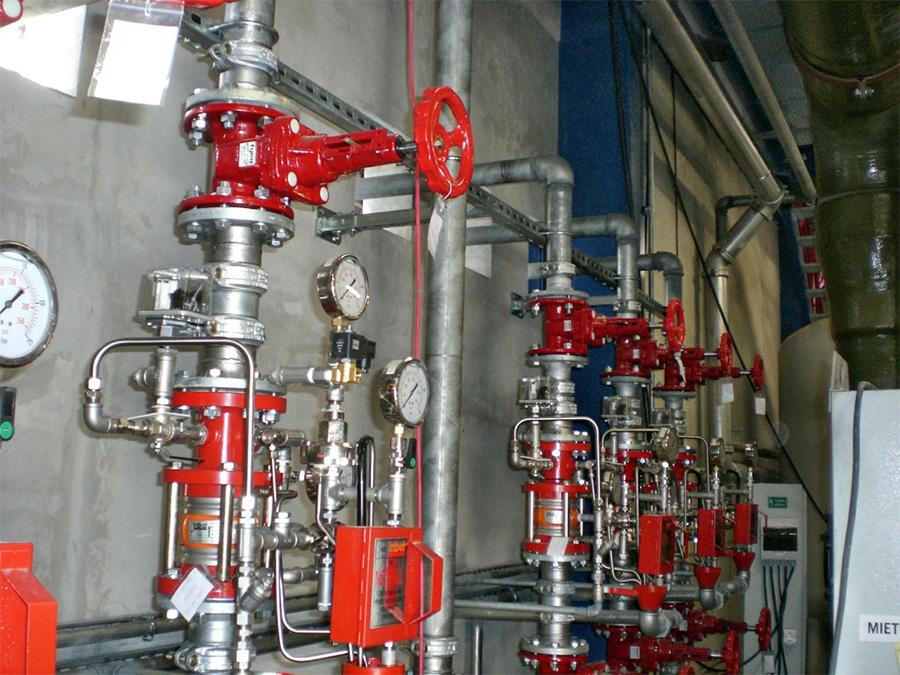 Siemens Gönyü – Sprinkler system