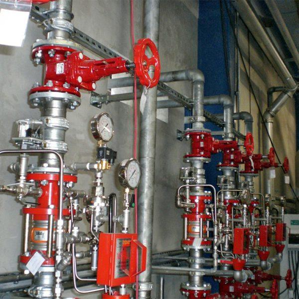 Siemens Gönyü – Sprinkler rendszer